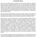 Declaración Pública de Bomberos de Chile ante lamentables opiniones del geógrafo Marcelo Lagos. https://t.co/UmdODoUvwg
