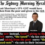 "Morrison dedicated to making poor -sorry ""taxed-nots""- poorer & rich-""taxed""-richer! https://t.co/7XTxtfPZlJ #auspol https://t.co/358g3gJqBZ"
