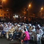 People gathered to support AAP during a moholla sabha in Karanj. https://t.co/blTek1ptg8