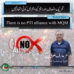There is no PTI alliance with MQM. - Dr. @ArifAlvi https://t.co/MDRhzVJY5A