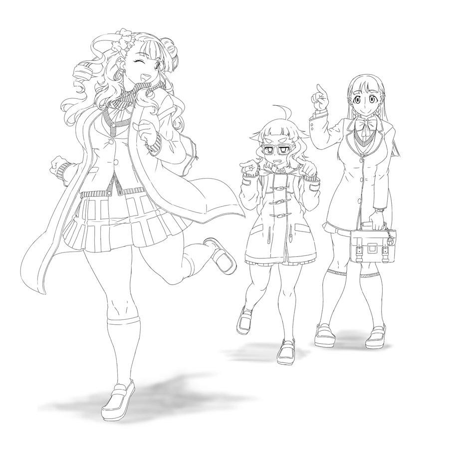 ギャル子ちゃん&オタ子&お嬢 is 冬空の下の天使たち~♪