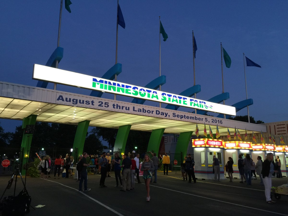 We're open! Welcome to Day 1 of the #mnstatefair! https://t.co/gDfue4wh2M