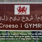 WIN one of 6 pairs of HOSPITALITY tickets to the #ENGvPAK ODI @TheSSESWALEC on Sun 4 Sept. RT to enter #competition https://t.co/v7XXQxDwcK