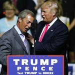 Trump: Rise, my friend. Farage: The Death Star will be completed on schedule. #NigelFarage https://t.co/GSSiddA4Bo