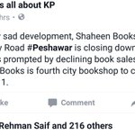More bookshops closing down in KPK. shdnt PTI govt guys visit shops&help shopkeepers from public taxes to continue? https://t.co/bbxSxYbhA8