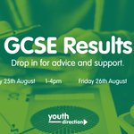 Good luck receiving your #GCSE results today! Our advisers will be on hand to help you - no appointment needed! https://t.co/BSmHhuiRTo