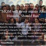 Should ban MQM if they can't minus Altaf Hussain. #MinusAltafOnlyOption https://t.co/FwUHftDcgM