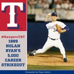 #RangersTBT to Nolan Ryans 5⃣0⃣0⃣0⃣th career K! 🔥🔥🔥🔥🔥 https://t.co/vSwaVosuOC