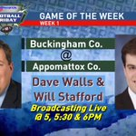 #ABC13FootballFriday starts IN 1 DAY. Get ready @ACHS_Raiders were broadcasting live Friday Night vs Buckingham! https://t.co/qd7VJS7MLO