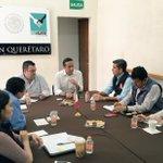 En reunión con el delegado de @SEDESOL_QRO , @ErnestoLuqueH , para fortalecer el trabajo en equipo. #Querétaro https://t.co/t1CBOgSqPG