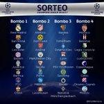 Inicia el Sorteo de la #ChampionsLeague2017 así están distribuidos los equipos para el Sorteo. https://t.co/u7E4D3Eww5