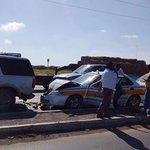 #Reynosafollow Accidente vial altura de semáforo de almendros con viaducto taxiVSexpedition via @R_CodigoRojo https://t.co/oqfU3eAm6V