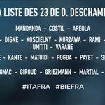 OFFICIEL ! La liste des 23 Bleus de Didier Deschamps pour affronter lItalie (amical) et la Biélorussie. #CôtéFoot https://t.co/kEEiI9hdzX