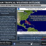 8:00 AM EDT @NHC_Atlantic update. Wave 99L could become a tropical depression during the next couple of days. #flwx https://t.co/mKfbPqcSlZ