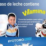 #YoTomoLeche  No olvides que un vaso de leche contiene #VitaminaA. @Lacteossbol @ProBoliviaGob https://t.co/LzzZQNleP9