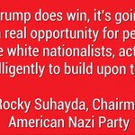 #AltRightMeans that Trump has support from the American Nazi Party leadership AND members. #NeverTrump https://t.co/bJq7JT9rRG
