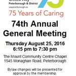 AGM Tonight: Public are invited to attend at 6:15 #75YearsOfCaring #WeArePossibility https://t.co/BdFvFA0dL1