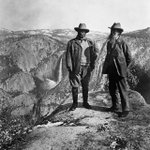 Teddy Roosevelt and John Muir at Yosemite - one of the greatest photos ever. Happy 100th birthday @NatlParkService. https://t.co/EPhSqX2DZO