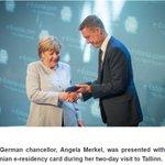 Angela Merkel becomes Estonian e-resident https://t.co/r4Z3eEduBp #egovernance https://t.co/Lb3Cl0jBno