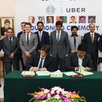CM #Sindh along with Minister Transport & others witnessing signing of MoU b/w UBER Int & Sindh Transport Department https://t.co/6RLOtlsM6Z