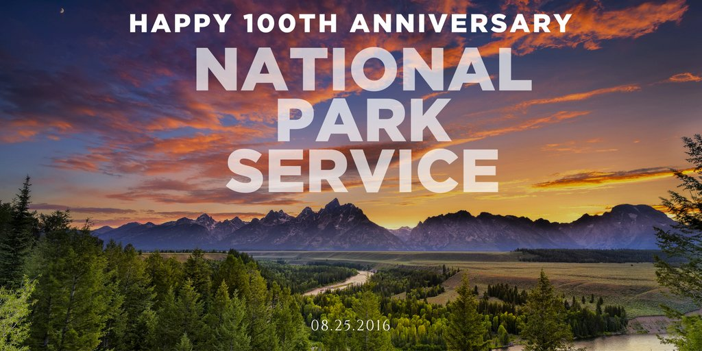 Happy #NPS100 @NatlParkService! 100 years of protecting our most treasured natural, historical and cultural sites! https://t.co/GjITd9lnWQ