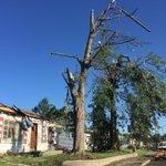 Blue skies over devastation in Kokomo this morning. Help if you can by texting HOOSIER to 41444. #KokomoStrong https://t.co/2ibdAUJr3G