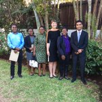 Exciting to meet 5 of the 7 #Chevening scholars from #Mozambique going to do Masters degrees in the #UK this year. https://t.co/9mwvtdG5vX