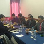 Min. @JCCassinelli mantiene reunión de trabajo con jefes negociadores de #Ecuador y #CoreaDelSur https://t.co/TmwTBLV9qS