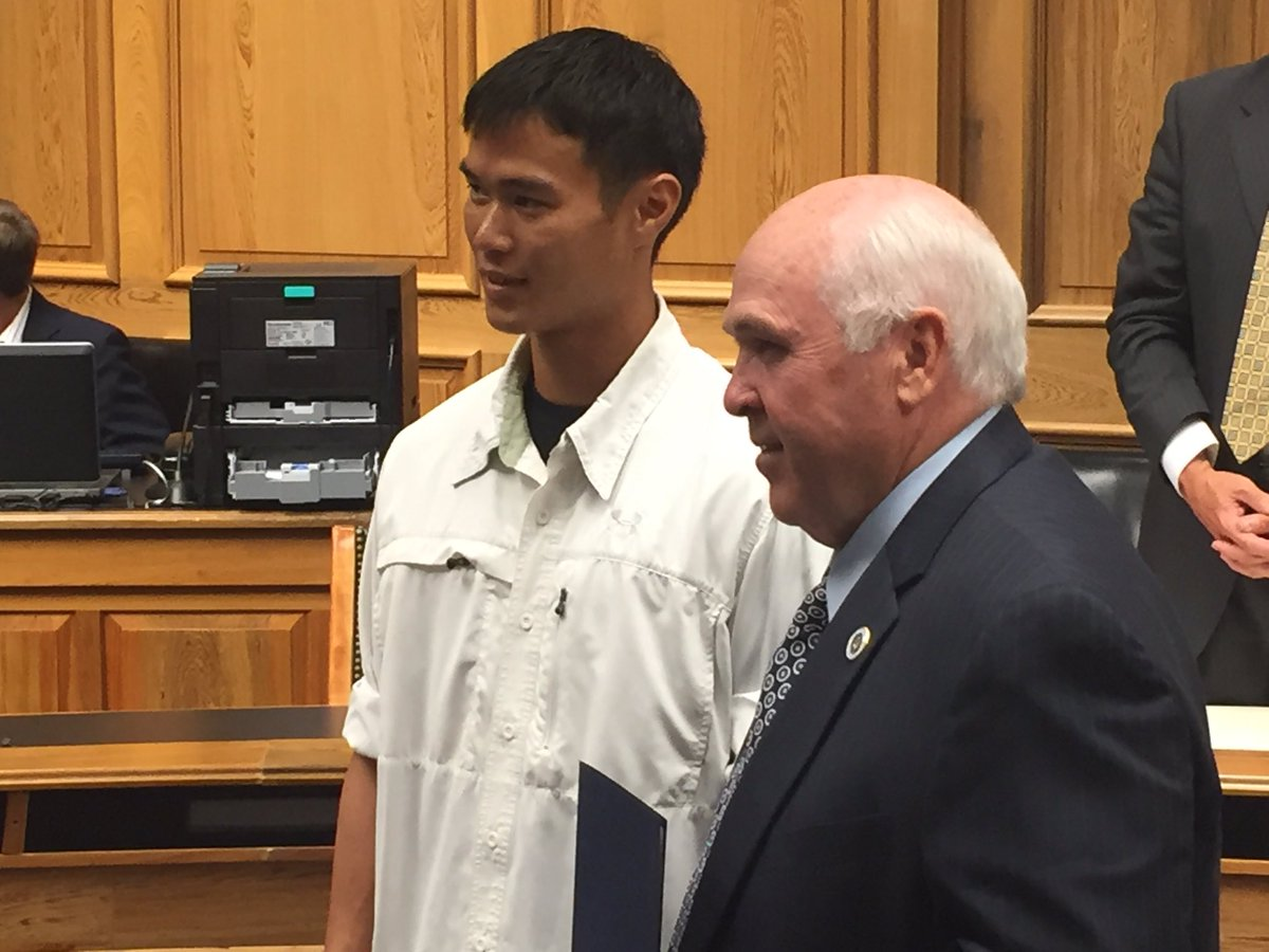 David Phung honored by LA Senate Homeland Security Comm. Phung rescued a woman trapped in her car during #laflood https://t.co/dO7oqYZEFX