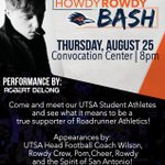 Howdy Rowdy Bash is TONIGHT! Come meet your 2016 Runners & stick around for a FREE concert by Robert DeLong. #UTSA https://t.co/dFP0OBaYgP