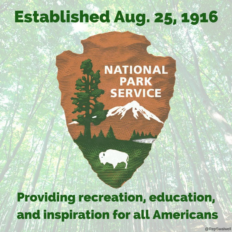 .@NatlParkService has been guardian of Americans' enjoyment, education, & inspiration for 100 years. #FindYourPark https://t.co/oEI8FbTFrX