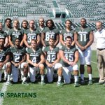 MSU 2016 Senior Class. #BACK2BACK #MSUFBPICTUREDAY. The goal is to graduate with 3 out of 4 B1G championships https://t.co/VyoSsTF45O