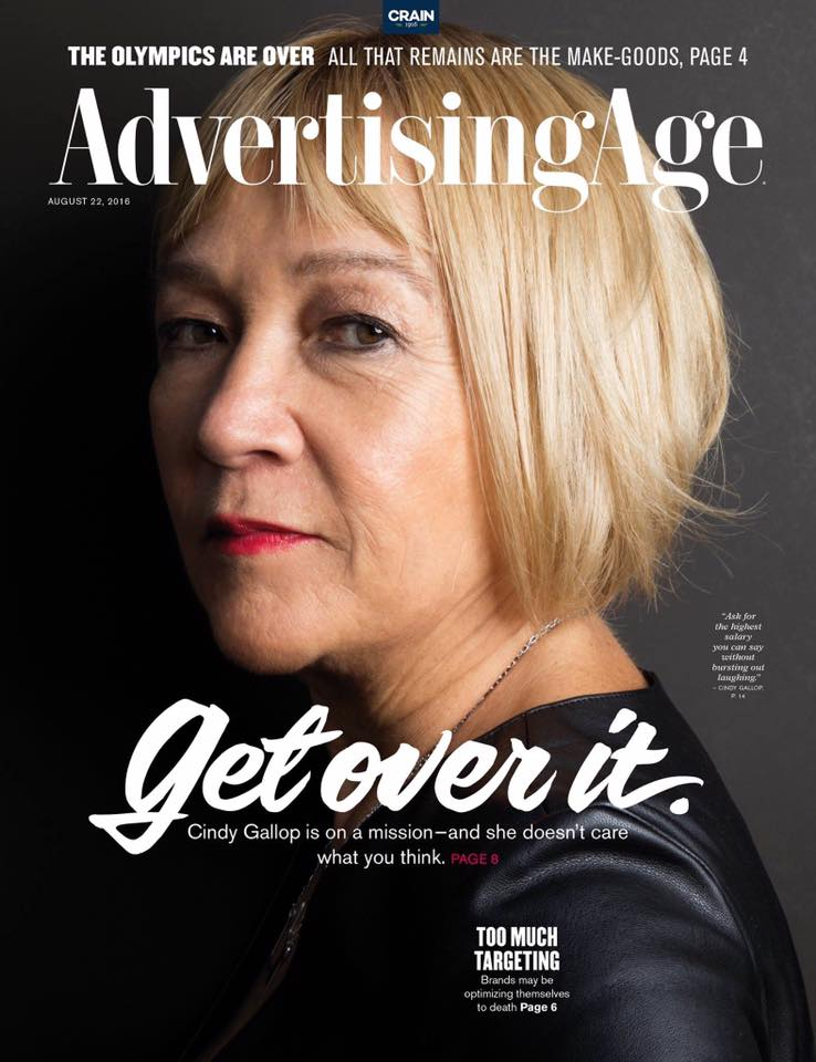 Let's all take a moment to appreciate @cindygallop's badass @adage cover. YES, THIS, WIN. https://t.co/EvWpl8HrzQ https://t.co/OZQOXopxdG