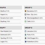 Estes serão os grupos da UEFA Champions League 2016/2017. #UCLDraw https://t.co/NrR1ZANH3b