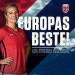 Gratulerer @AdaStolsmo med prisen UEFA Best Womens Player 2015/16!!! https://t.co/pcsneGigot