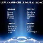 #ChampionsLeague: así quedaron los emparejamientos en la fase de grupos ► https://t.co/xJ5i1KGeKZ https://t.co/x1ibvlxNKW