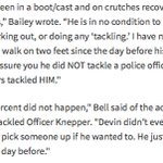 Eyewitnesses Selina Bell & Haleigh Bailey (Butlers girlfriend) say Butler never tackled cop https://t.co/7VCEHono12 https://t.co/JM73MgKVpr