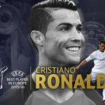 🏆 PARABÉNS! 🏆 Cristiano Ronaldo eleito Melhor Jogador da UEFA na Europa 2015/16 #UEFABestPlayer 👏👏👏 https://t.co/pTGhv8qNQV