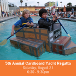 Fifth Annual Cardboard Yacht Regatta Sat. Aug 27! Come watch the drama unfold at 6:30pm! https://t.co/v5eCKGgriB https://t.co/i6M92M1S4H