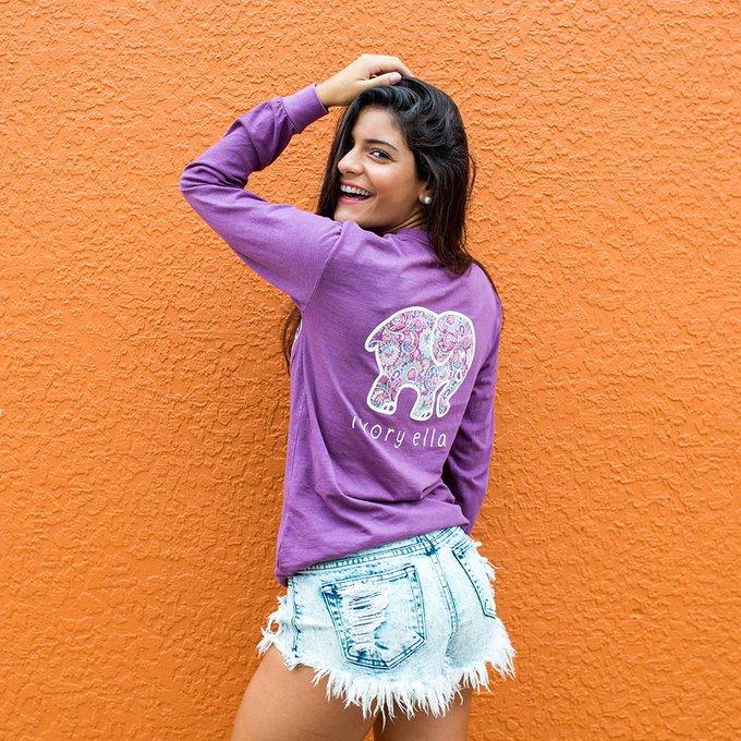 Ivory Ella Berry Baja Beach Paisley Long Sleeve Shirt