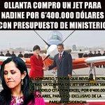 Ollanta compro un Jet para Nadine por 6'400.000 dólares con Presupuesto de Ministerio https://t.co/htLQ9c4Kbg