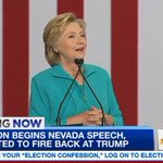 #HillaryClinton just took stage for speech at community college in Reno where she is firing back at #Trump https://t.co/z4N0xEOc3l