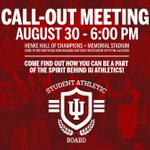 Interested in getting involved with IU Athletics? Come check out @IU_SAB! https://t.co/lnLdjE4iUt
