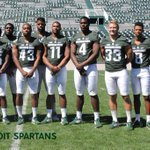Well, this is fun! Michigan motto: Those who stay will be champions Check out the motto in this Michigan State photo https://t.co/g4k30Cy3Hv