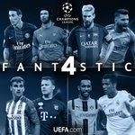 😍😍😍😍   Paris v Arsenal  Barcelona v Man City  Atlético v Bayern  Dortmund v Real Madrid   #UCLdraw https://t.co/P0LuVhnUo8