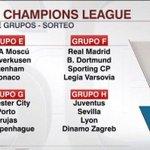Así quedó el sorteo de grupos de #ChampionsLeague . ¿Se animan a dar favoritos? https://t.co/CBPDkj7X8e
