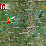 3:17pm: Sct strong storms developing across NE OK. 40mph wind gusts & frequent lightning possible. #okwx https://t.co/h4nHJVOsNt