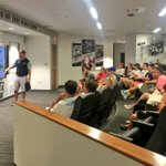 Coach Gabrielli addressed the freshmen and their families after move in day today. #WelcomeToFRIARTOWN #GoFriars https://t.co/uQLc42JBEr