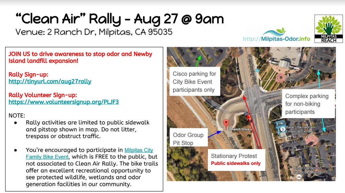 test Twitter Media - Clean air rally this Saturday Aug 27th, 9-11am at 2 Ranch Dr, Milpitas, see map for details https://t.co/f5vCpHwkGy https://t.co/quiur1Prjq
