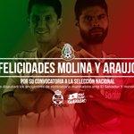 ¡Felicidades por su llamado a @miseleccionmx, @Nestor_araujo3 @j_molina5! #RendirseJamás #AquíPuroGuerrero https://t.co/8W0kYnwhGX